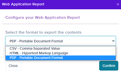Purplemet Cloud HTML and PDF report